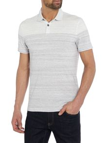 Hugo Boss Painter space dye striped polo shirt