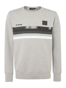 Diesel Front Stripe Block Sweat Top