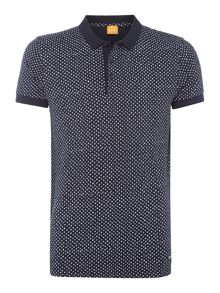 Hugo Boss Palex all-over spot print polo shirt
