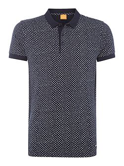 Palex all-over spot print polo shirt