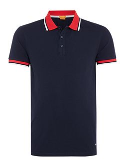 Pay slim fit tipped polo shirt