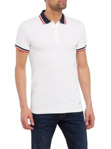 Hugo Boss Pay slim fit tipped polo shirt