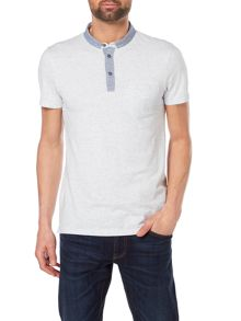Hugo Boss Patherman 1 pocket marl contrast collar polo