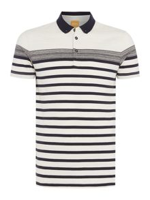 Hugo Boss Promo regulsr fit striped slub polo shirt
