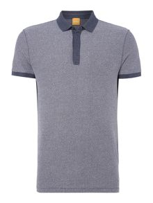 Hugo Boss Persys jaquard knitted polo shirt
