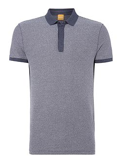 Persys jaquard knitted polo shirt