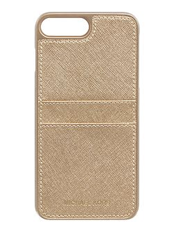 Gold iphone 7+ phone cover