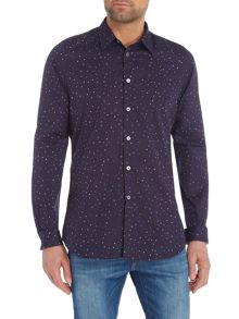 PS By Paul Smith Formal All Over Spot Print Shirt