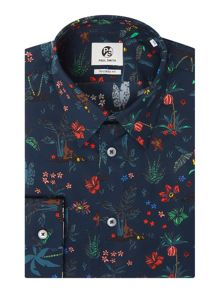 PS By Paul Smith Formal Botanical Print Shirt
