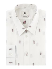 PS By Paul Smith Formal Cockatoo Random All Over Print Shirt Shirt