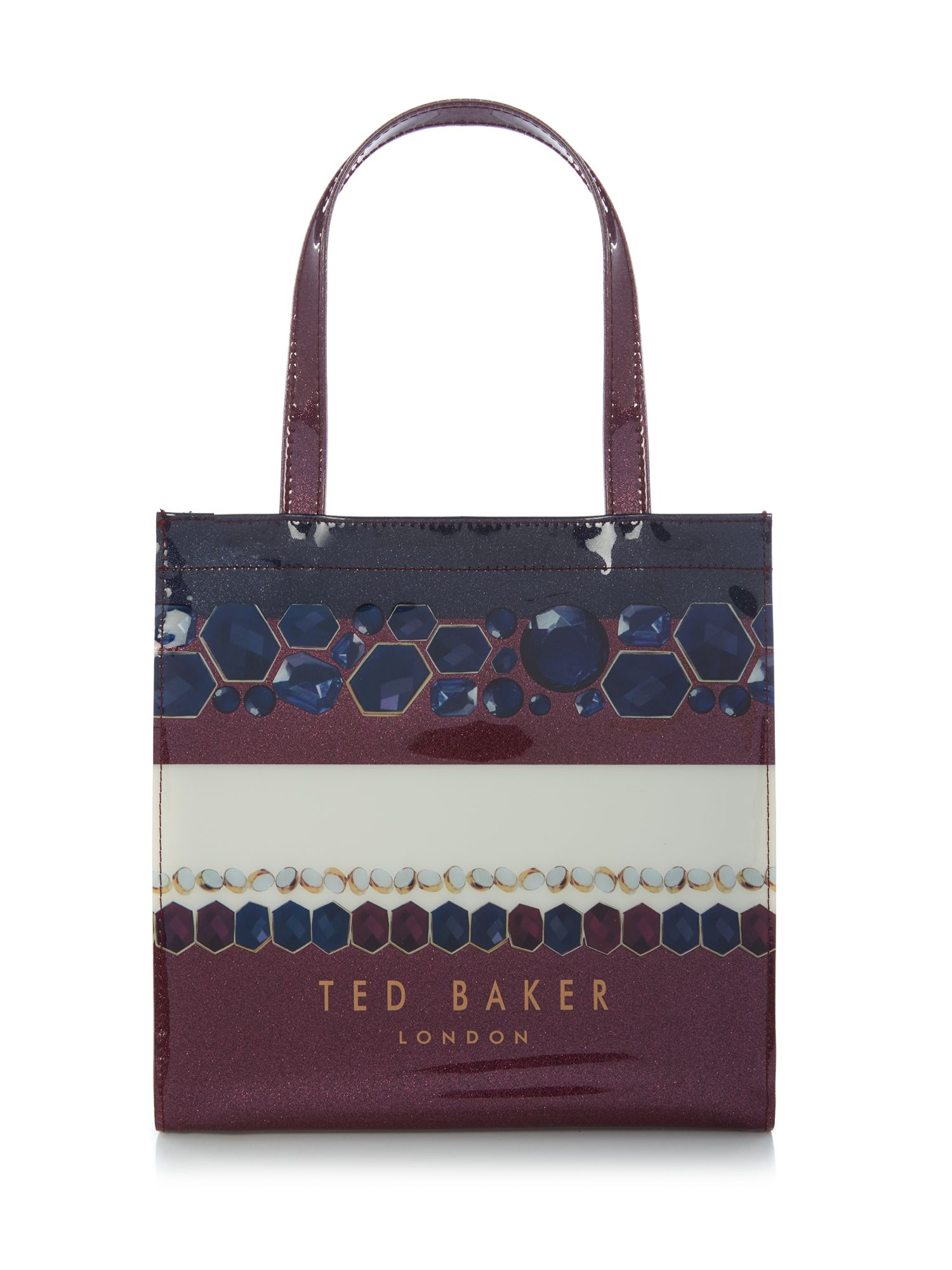 Ted Baker Tericon small stripe bow tote bag Navy