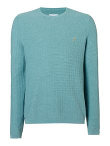 Farah Textured Crew Neck Jumper