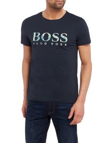 Hugo Boss Tacket large logo print t-shirt
