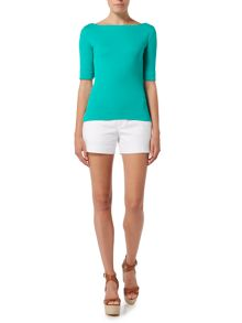 Lauren Ralph Lauren Benny boatneck elbow sleeve top