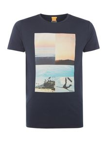 Hugo Boss Tacket sunset collage t-shirt