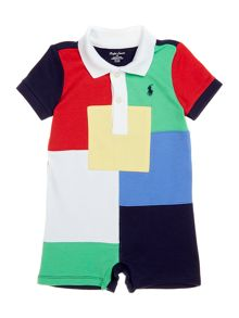 Polo Ralph Lauren Baby Boy Short Sleeve Patchwork All-In-One