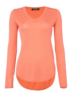 Haivyn long sleeve v neck tunic