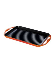 Le Creuset Cast Iron rectangular Grill Volcanic