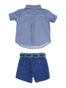 Polo Ralph Lauren Baby Long Sleeve and Short Gingham Set