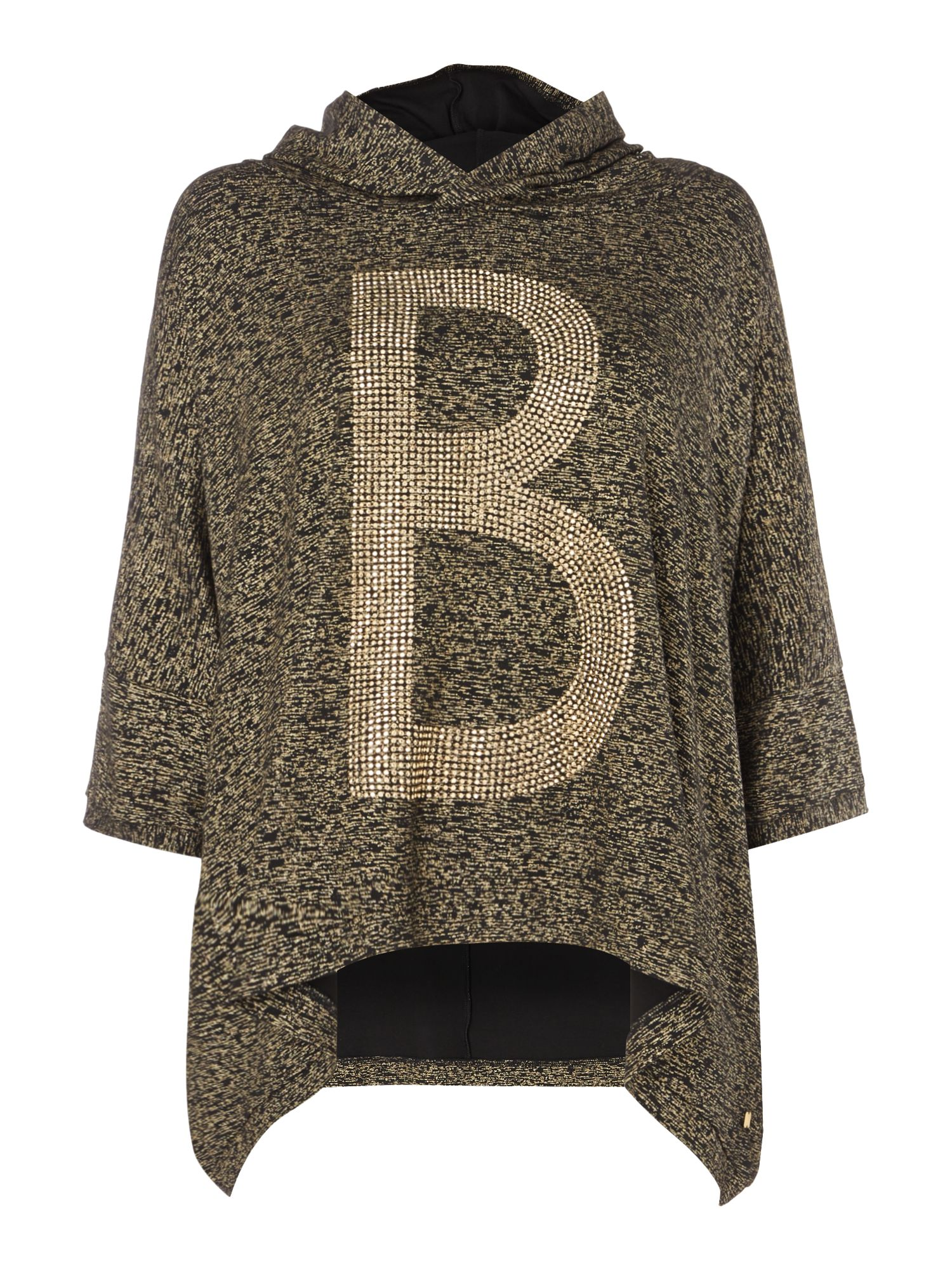 Biba Biba Luxe casualwear embellished hooded jumper, Gold