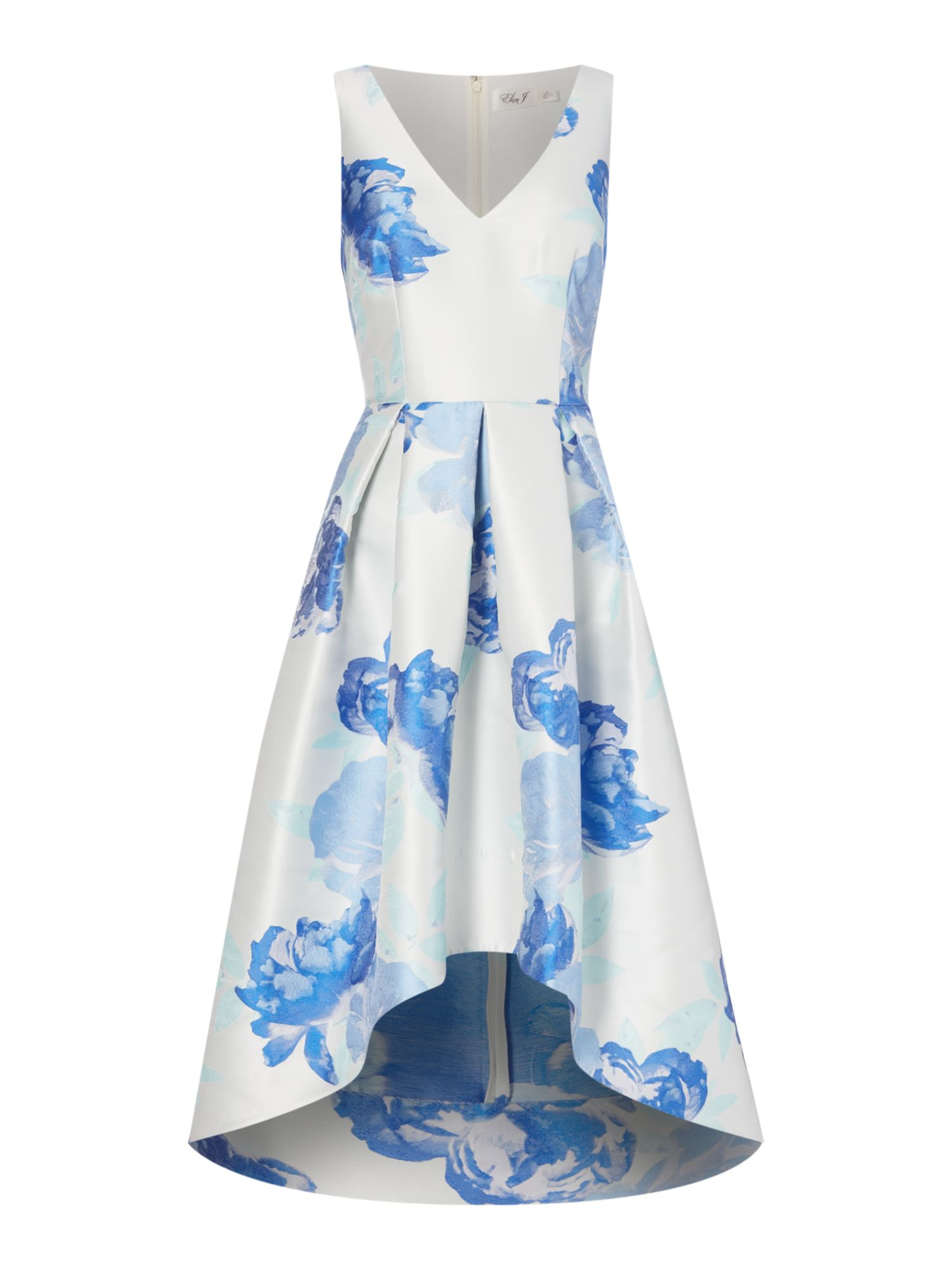 Eliza J Floral print fit and flare dress, Blue