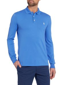 Polo Ralph Lauren Long sleeve slim fit stretch mesh polo