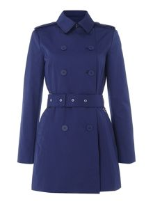 Lauren Ralph Lauren Double breasted topstitch detail trench