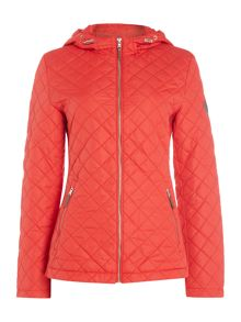 Lauren Ralph Lauren Hooded zip front jacket