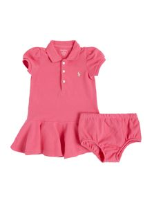 Polo Ralph Lauren Baby Girls Short Sleeve Collar Dress