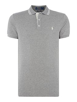 Custom fit mesh twin tipped short sleeve polo