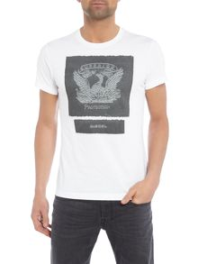 Diesel Pheonix graphic applique t-shirt