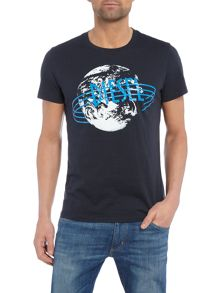 Diesel Diesel world crew neck t-shirt