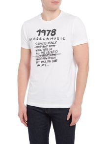 Diesel 1978 music crew neck t-shirt