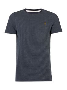 Farah Lawrence jaquard textured t-shirt