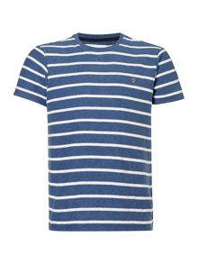 Farah Pickering herringbone stripe t-shirt
