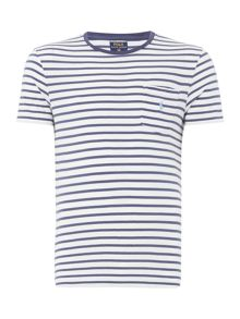 Polo Ralph Lauren Short sleeve stripe crew neck pocket t-shirt