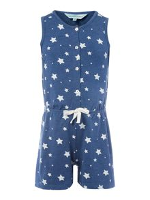 Little Dickins & Jones Girls Star Print Playsuit