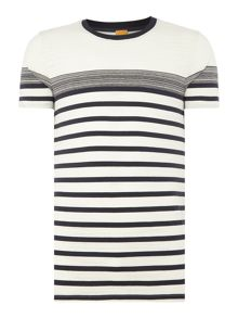 Hugo Boss Teamplayer striped crew neck t-shirt