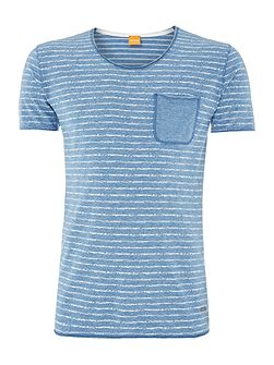 Tao 1 pocket striped marl t-shirt