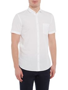 Hugo Boss Short-sleeve cutaway collar poplin shirt