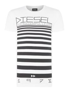 Diesel Graphic lines t-shirt
