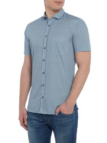 Hugo Boss Paisely print cutaway collar short-sleeve shirt