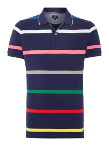 Gant Stripe Short Sleeve Cotton Jersey Polo-Shirt