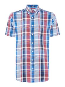 Gant Bright-Check Short-Sleeve Shirt