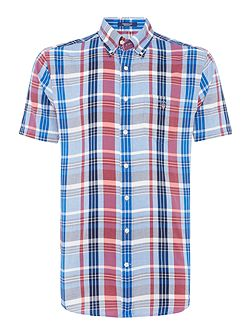 Bright-Check Short-Sleeve Shirt
