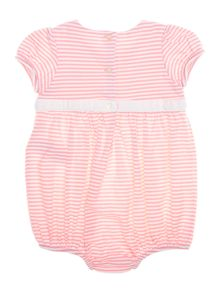 Polo Ralph Lauren Baby Girls Stripe Bow Waist Romper
