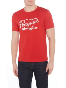 Original Penguin Script-Logo Short-Sleeve T-shirt