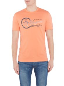 Original Penguin Printed-Logo Short-Sleeve T-shirt