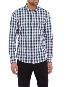 Hugo Boss Eclash long-sleeve checked shirt
