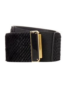 Lauren Ralph Lauren Enameled slide interlock belt